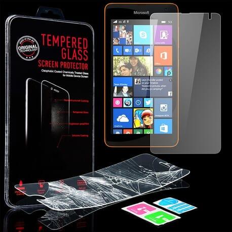 Nokia Lumia 535 Display Schutz Folie Panzerglas Echt Glas 9H Protective Guard