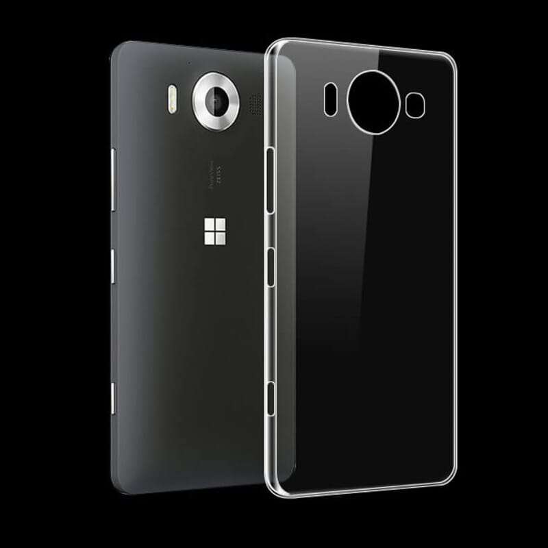 Microsoft Nokia TPU Silicone Slim Case Soft Ultra Thin Transparent Smartphone Back Cover .