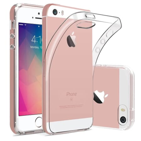 iPhone SE 5S 5 Hülle Crystal Clear Ultra Dünn Durchsichtige Backcover Handyhülle TPU Case