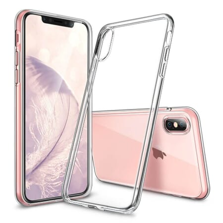 iPhone X (10) Klar Case Silikon Cover Bumper Tasche Transparent Schutzhülle