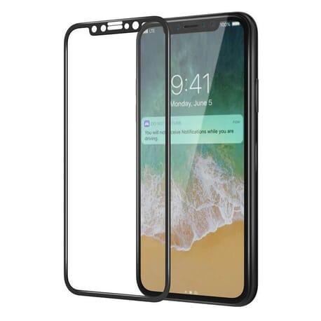 Apple iPhone X (10) 3D Panzerglas Displayschutz Curve Schutzglas Folie - Schwarz