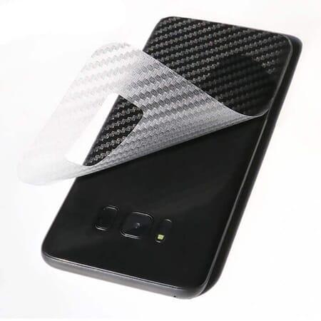 2x Samsung Galaxy S8 Schutzfolie Film Rückseite 3D Carbon Efekt Klar