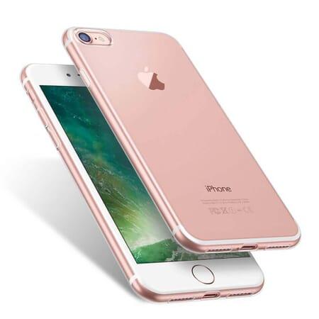 Apple iPhone 8 Schutzhülle Durchsichtig Silikon Case Cover Bumper Tasche Transparent