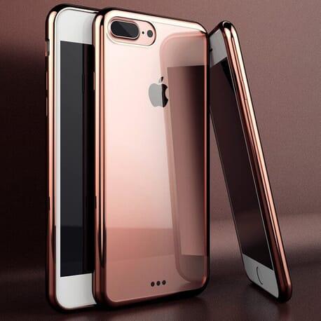 iPhone 8 Plus Schutzhülle Luxury Chrom Case Bumper Etui Hülle Cover Platin