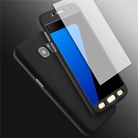 Samsung Galaxy S7 Schutzhülle + Panzerglas 360° Full Cover Rundum Schutz Hülle Bumper Case