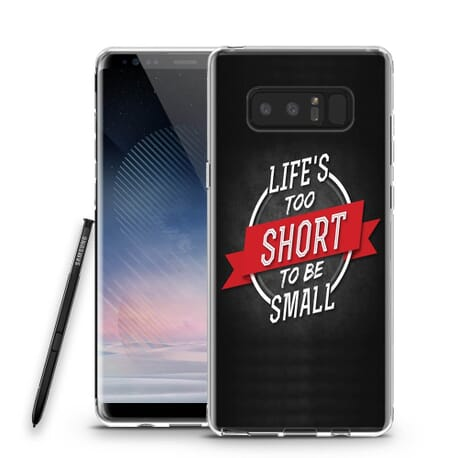 Handy Hülle für SAMSUNG Silikon Case Tasche Cover Design Motiv Life it too short to be small