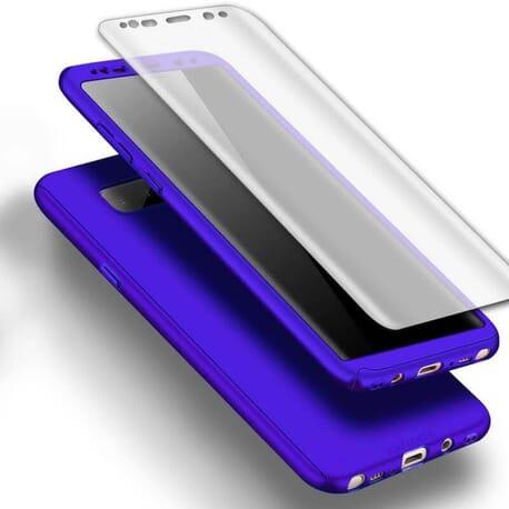 Samsung Galaxy Note 8 Full Cover 360 Schutzhülle + Panzerfolie Schutz Hülle Case - Blau