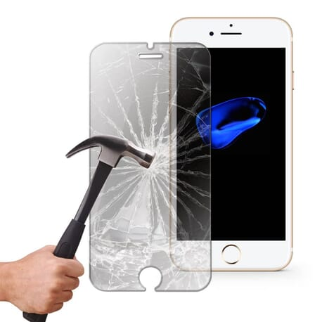 Panzerglas Display Schutz Folie für Apple iPhone 7 Echtglas 9H Panzerfolie