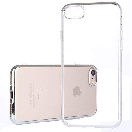 Silver Silikon Case für Apple iPhone 7 Schutzhülle Schale Etui Bumper Hülle Cover