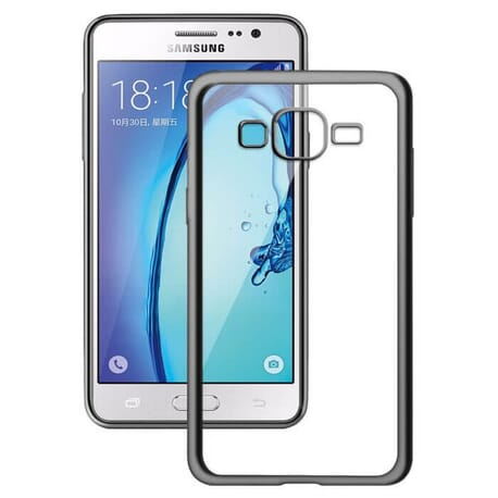 Samsung Galaxy J5 2016 Schutzhülle Luxury Case Bumper Etui Hülle Chrom Cover Platin