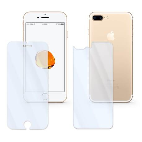 Set Vorderseite + Rückseite Panzerglas Display Schutz Glass 9H für iPhone 7 Plus