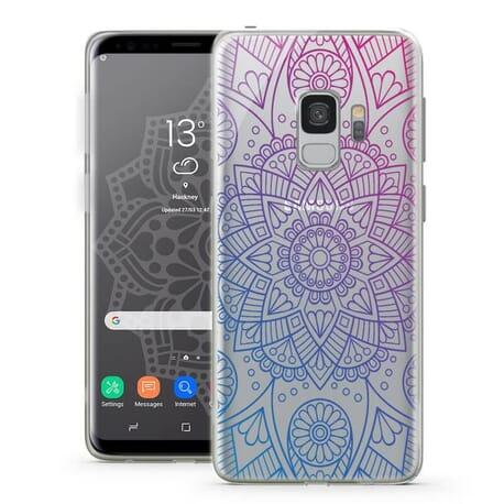 Schutzülle Mandala für Galaxy S9 Tasche Motiv Mandala Sterne Blumen