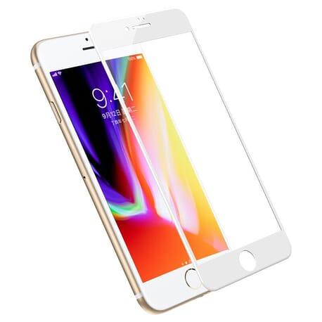 5D Panzerglas Display Schutz für iPhone 6 / 6s Plus Display Curved Glas - Weiß