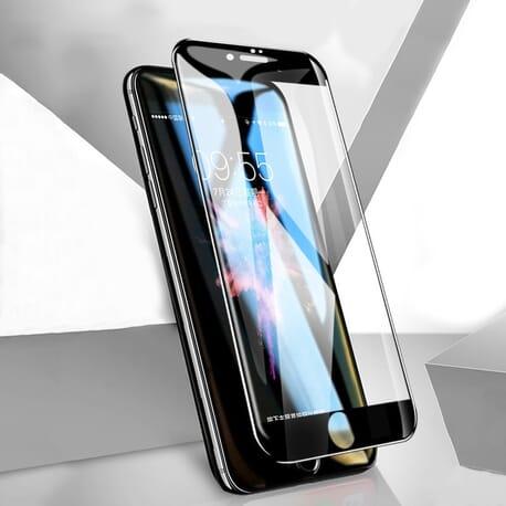 5D Panzerglas für iPhone 8 / 7 Display Schutz Neueste Curved Glas Schwarz