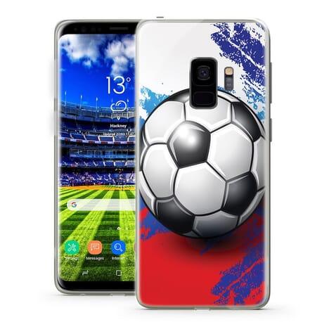 Handy Hüllen für Samsung Galaxy Fußball Rot& Blau Design Case Motiv