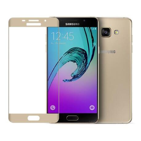Samsung Galaxy A5 (2016) Voll Panzerglas Displayschutz Folie Echtglas 9H Panzerfolie - Gold