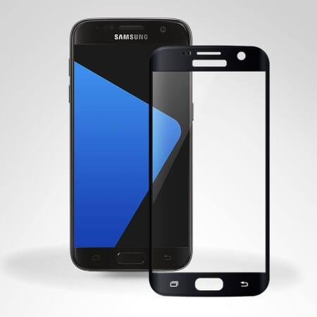 3D Curved Glasfolie für Samsung Galaxy S7 Panzerglas FULL SCREEN Glas Folie - Schwarz