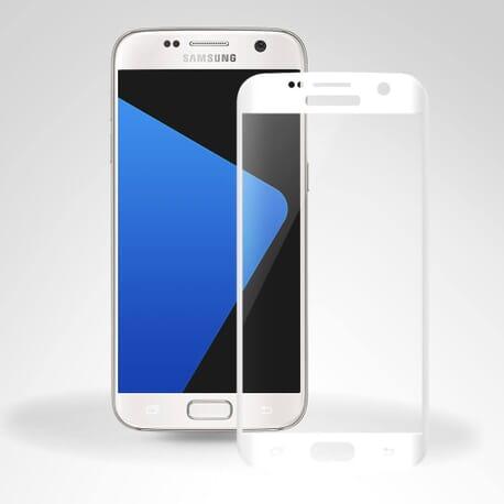 3D Curved Glasfolie für Samsung Galaxy S7 Panzerglas FULL SCREEN Glas Folie - Weiß