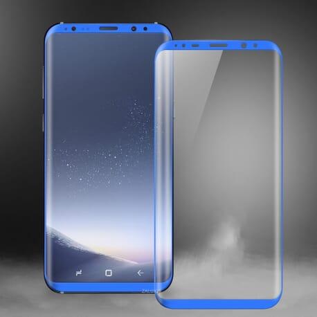 Samsung Galaxy S8 - 3D Panzerglas Displayschutz Curve Echt Glas - Blau