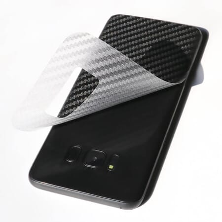 2x Rückseite 3D Carbon Schutzfolie für Samsung Galaxy S8 Schutz Folie Film