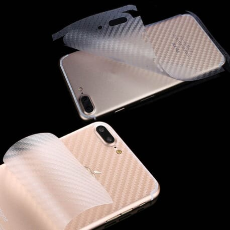 2x iPhone7 Plus Rückseite 3D Carbon Schutzfolie Schutz Folie Film