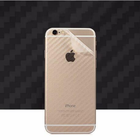 2x iPhone 6/6s Plus Rückseite 3D Folie Carbon Schutzfolie Schutz Film