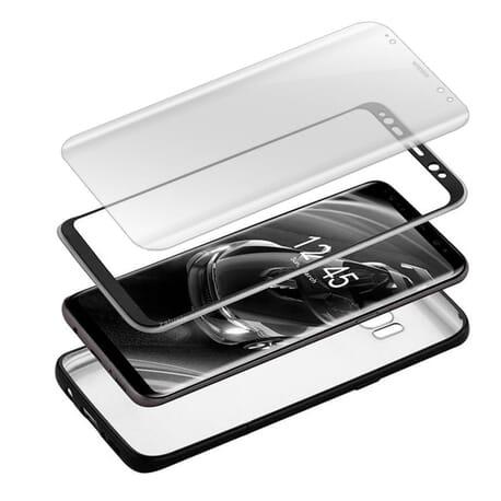 Samsung Galaxy S8 Case + Panzerfolie Hard Case Schutz Hülle 360 Rundum Full Cover